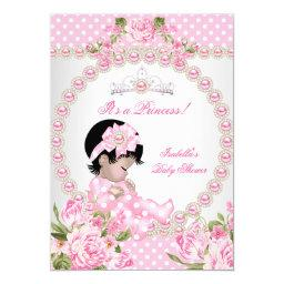 Vintage  Asian Girl Pink Pearl Rose 2D