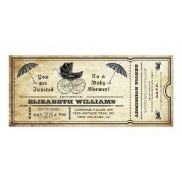 Vintage Baby Shower Ticket