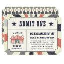 Vintage Circus Ticket Baby Shower Invitations
