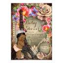 Vintage Ethnic Princess Paris Baby Shower Invitations