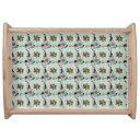 Vintage Look Abstract Multicolor Serving Tray