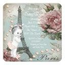 Vintage Pink Paris Baby Shower