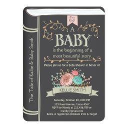 Vintage Storybook Baby Shower Invitations Unisex