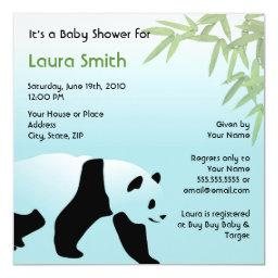 Walking Panda Baby Shower  - Square