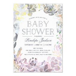 Water Succulents | Baby Shower