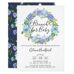 Watercolor Blue Hydrangeas  Brunch