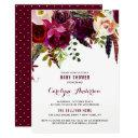 Watercolor Boho Floral Autumn Baby Shower Invitations