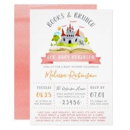 Watercolor Books & Brunch | Red Unisex Baby Shower