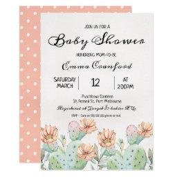 Watercolor Cactus Neutral Baby Shower