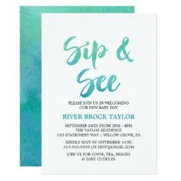 Watercolor Calligraphy Sip and See