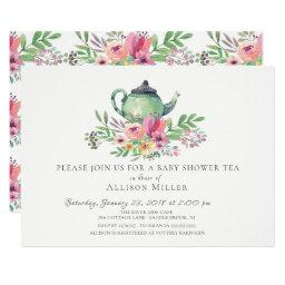 Watercolor Floral Baby Tea Party