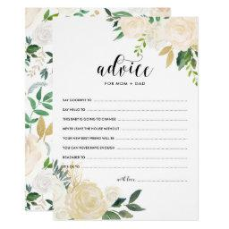 Watercolor Flowers Gold Advice for the Parents