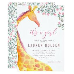 Watercolor Giraffe Baby Shower