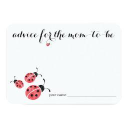 Watercolor Ladybug Advice for Mom Baby Shower