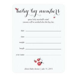 Watercolor Ladybug Baby Shower Guessing Game