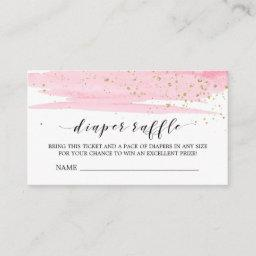 Watercolor Pink Diaper Raffle Invitation Insert
