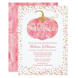 Watercolor Pumpkin Glitter Fall Girl
