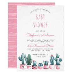 Watercolor Succulents Boho Baby Shower