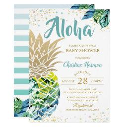 Watercolor Tropical Pineapple Beach Baby Shower