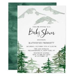 Watercolor Woodland Baby Shower