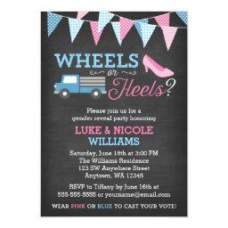 Wheels or Heels Gender Reveal Party