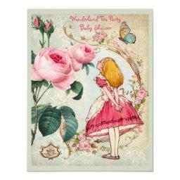 Whimsical Alice in Wonderland Collage