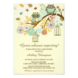 Owl baby shower invitations babyshowerinvitations4u whimsical autumn owls baby shower filmwisefo