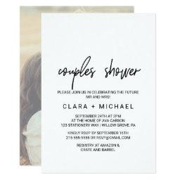 Whimsical Calligraphy | Photo Back Couples Shower