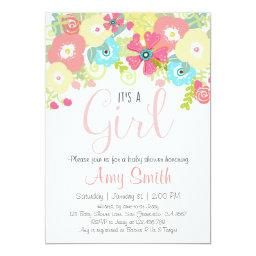 Whimsical Girl Floral Pink