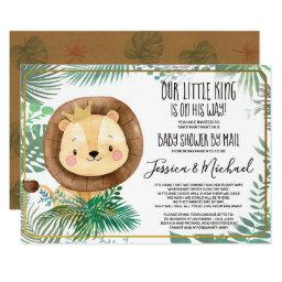 Whimsical Lion Party   Shower By Mail Invitation