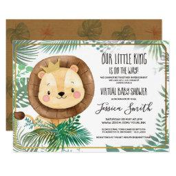 Whimsical Lion Themed Party | Virtual Baby Shower Invitation