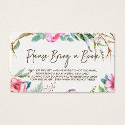 Whimsical Watercolor Wreath Please Bring a Book