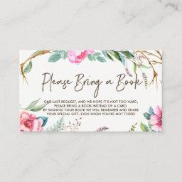 Whimsical Watercolor Wreath Please Bring A Book Enclosure