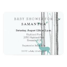 White Birch Trees with Deer and Birds baby shower