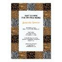 Wild Animal Print Baby Shower Invitation Invitations