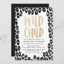 Wild Child | Baby Shower Invitation