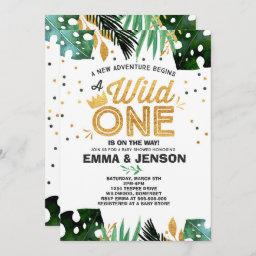 Wild One Baby Shower Invitation Adventure Shower