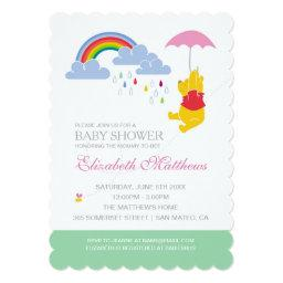 Winnie The Pooh | Girl Baby Shower Invitations