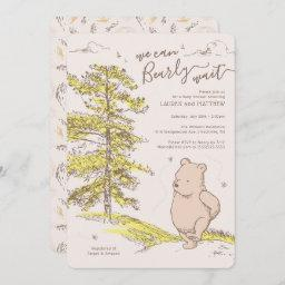 Winnie The Pooh | We Can Bearly Wait Baby Shower Invitation