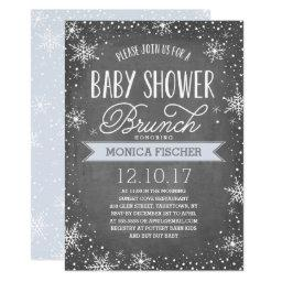 Winter Snowflake Baby Shower Brunch Chalkboard