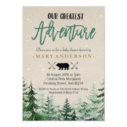 Winter The Adventure Begins Baby Shower Invitations