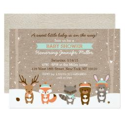 Winter Woodland Animal Baby Shower