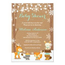 Winter Woodland Baby Shower