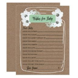 Wishes for Baby Mason Jar Baby Shower Game