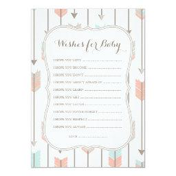 Wishes For Baby Tribal Arrows Shower Game