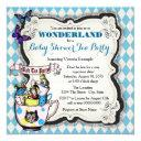 Wonderland Mad Hatter Tea Party Baby Shower Invitation