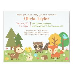 Woodland Animal Themed Baby Shower