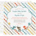 Woodland Animals Couples Baby Sprinkle Invitation