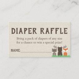 Woodland Baby Shower Diaper Raffle Tickets Enclosure