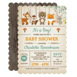 Woodland Baby Shower  Forest Animals